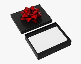 3D Christmas gift card with box 01