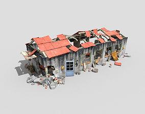 3D asset destroyed building 2