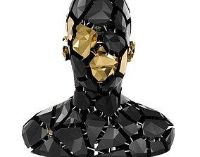 3D asset Abstract sculpture of a bust