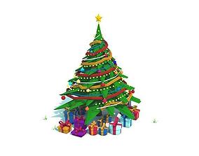 Low Poly Christmas Tree 3D model VR / AR ready
