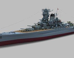 Japanese Battleship Yamato military 3D model
