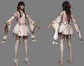 Ancient Chinese Little Girls Loli pretty beauty 3D model