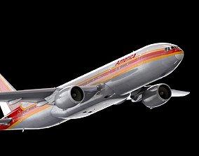 Boeing 777 American Airline Model - 3D model -