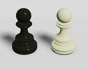 Chess Pawn 3D model game