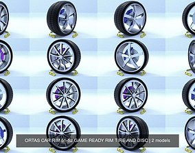 3D model ORTAS CAR RIM 51-52 GAME READY RIM TIRE AND DISC