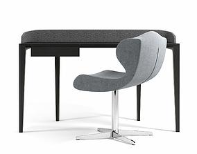 3D Ligne Roset Inside World Desk And Alster Chair