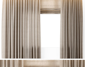 3D model CURTAINS LINEN