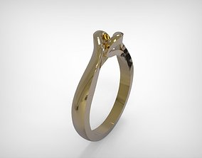 3D print model Golden Jewelry Ring Round Brilliant Top