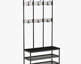Ikea Pinning Coat Rack 3D model