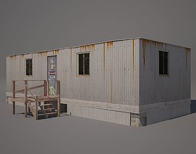 3D model game-ready Metal Shack