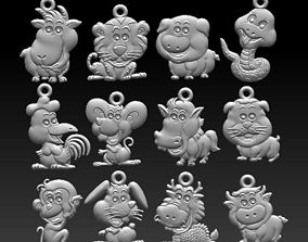 Chinese zodiac signs 3D