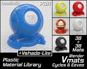3D model VMATS Plastic Material Library for Blender 2