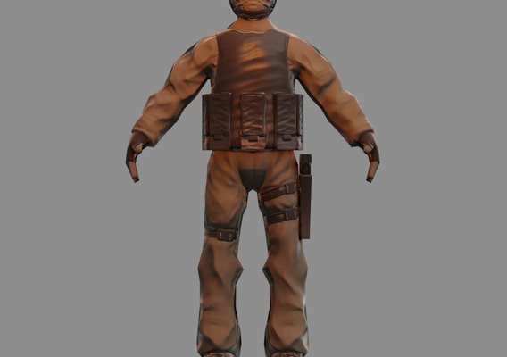 Soldier Low-poly