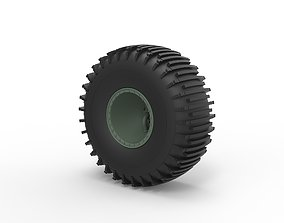 Diecast Offroad wheel 37 Scale 1 to 20 3D printable model