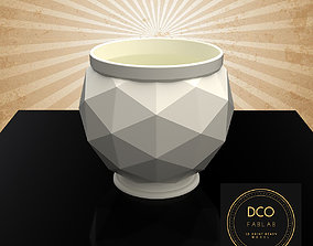 Decorative Triangulated Container Pot 3D printable model 2