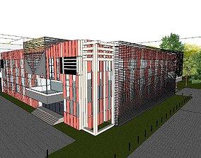 Office-Teaching Building-Canteen 19 3D model