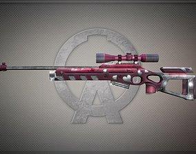 Sv98-white-day-scope Gun-weapon model 3D asset