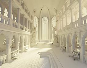 3D medieval palace
