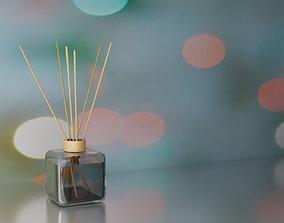 Wooden sticks liquid air freshener 3D