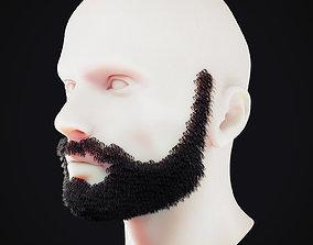 3D model Beard Low Poly 7