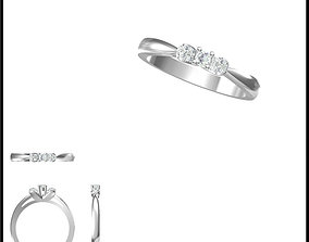 Unique solitaire rings ring cad 3D print model