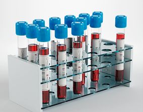 3D asset Covid-19 Test Tube Rack