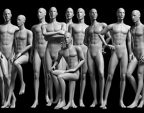 3D asset Animated Male Base Mesh v2 - 12 poses