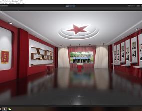 3D asset animated Justice Prison Lounge Room