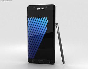 Samsung Galaxy Note 7 Black Onyx 3D