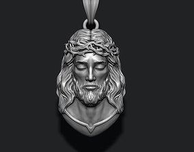 3D printable model Jesus pendant v2