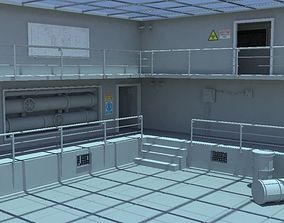 Factory interior 3D asset game-ready