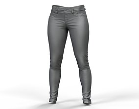 Zbrush Womens Jeans 3D