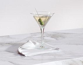 Glass of martini 3D model