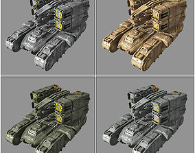 SF Missile Launcher MK6 3D asset game-ready