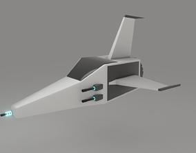 3D asset Spaceship Game Redy