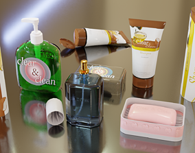Bath tools Collection 3D model