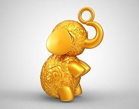 3D print model Baby Elephant Necklace