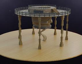 3D model Skull - Tower