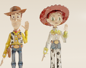 Woody and Jessie 3D Models Rigged PACK rigged