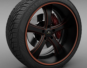 3D Savini Forged SV-33S Wheel and Tire