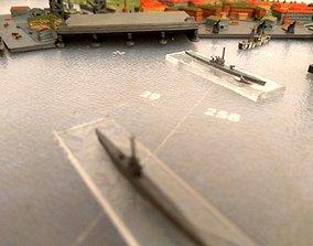 3D print model Hex Bunker Submarines