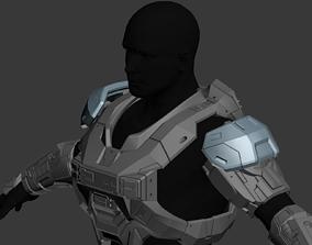 Reach UA Base Security Shoulder Wearable 3D Print Model