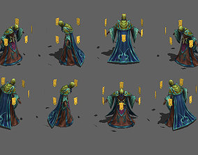 3D model Master wizard monster Old necromancer