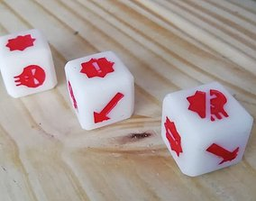 3D print model 16mm Fantasy Football dice