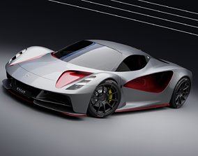 3D LOTUS EVIJA -a limited production electric sport car