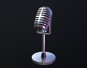 3D model Microphone retro