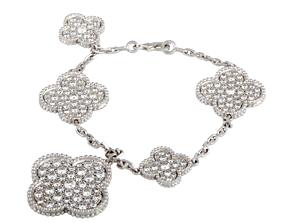 Clover diamond bracelet van cleef 3D print model