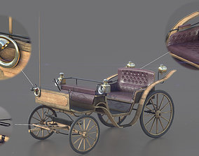 Carriage 3D asset low-poly