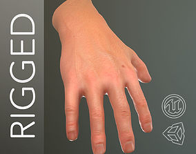 3D asset Male Hand Rigged