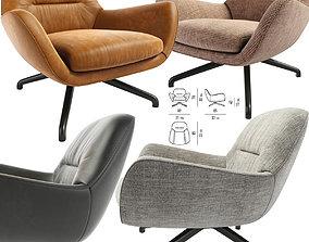 3D Minotti Jensen Armchair swivel-chair
